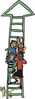 TIBIR-stigen, illustrert av Anna Fiske.