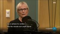 """Nina Tollefsen understreket i debatt på NRK at dårlig atferd hos elever """"smitter""""."""