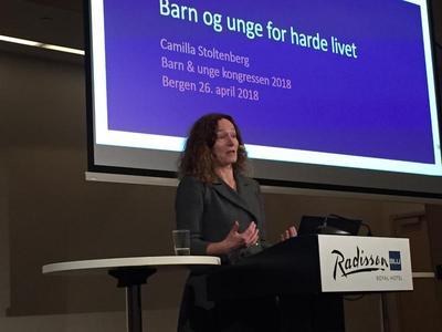 Harde liv: Men Camilla Stoltenberg, direktør ved Folkehelseinstituttet, framhevet at det kan bli gode liv likevel med riktig kunnskap. Foto: Kristin Horn Talgø