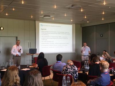 Implementeringsstrategi: Terje Christiansen og Dagfinn Cock deler sine erfaringer med implementering av TIBIR i Lørenskog. Foto: Anette Arnesen Grønlie.
