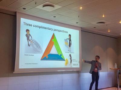 Implementering av FFT i Danmark: Dagfinn Mørkrid Thøgersen forteller om implementeringsarbeidet tilknyttet FFT i Danmark. Foto: Kristin Horn Talgø.