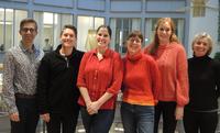 Engasjert team: FFT-teamet i Drammen synes det er spennende å jobbe etter FFT-modellen sammen med familiene. Fra venstre: Dagfinn Mørkrid Thøgersen, NUBU, Benjamin Mathias Silseth, Marlene Johre, Helene Wahl, Beate Cecilie Holm, og Anne Lothe Brunstad, NUBU. Foto: Kristin Horn Talgø.