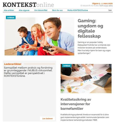 Gaming: I dette nummerets presenterer Stian Overå – spesialrådgiver ved KoRus-Øs – og Marja Leonhardt – høgskolelektor ved VID vitenskapelig høgskole –en analyse av Gaming; en fritidsverden for store ungdomsgrupper som eldre generasjoner ofte har begrenset kjennskap til. Foto: Illustrasjonsfoto Colourbox.